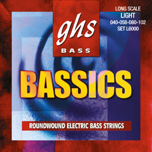 GHS - Muta ML6000 - Bassics - Long Scale - Roundwound - Med. Light