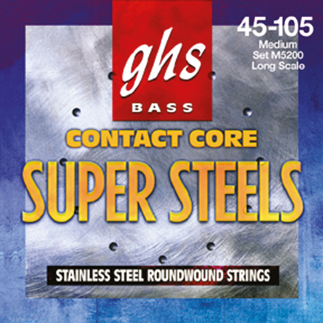 GHS - Muta 5LCC - Super Steel Roundwound Contact Core - Light