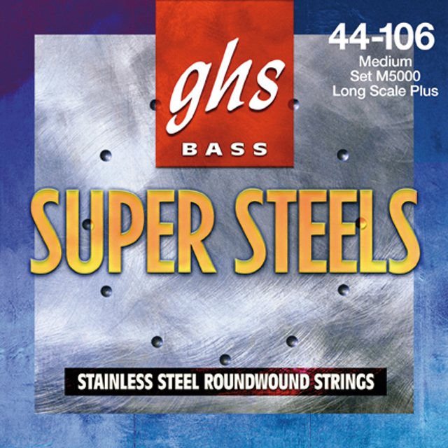 GHS - Muta 6L STB - Super Steel Roundwound - Long Scale -Light