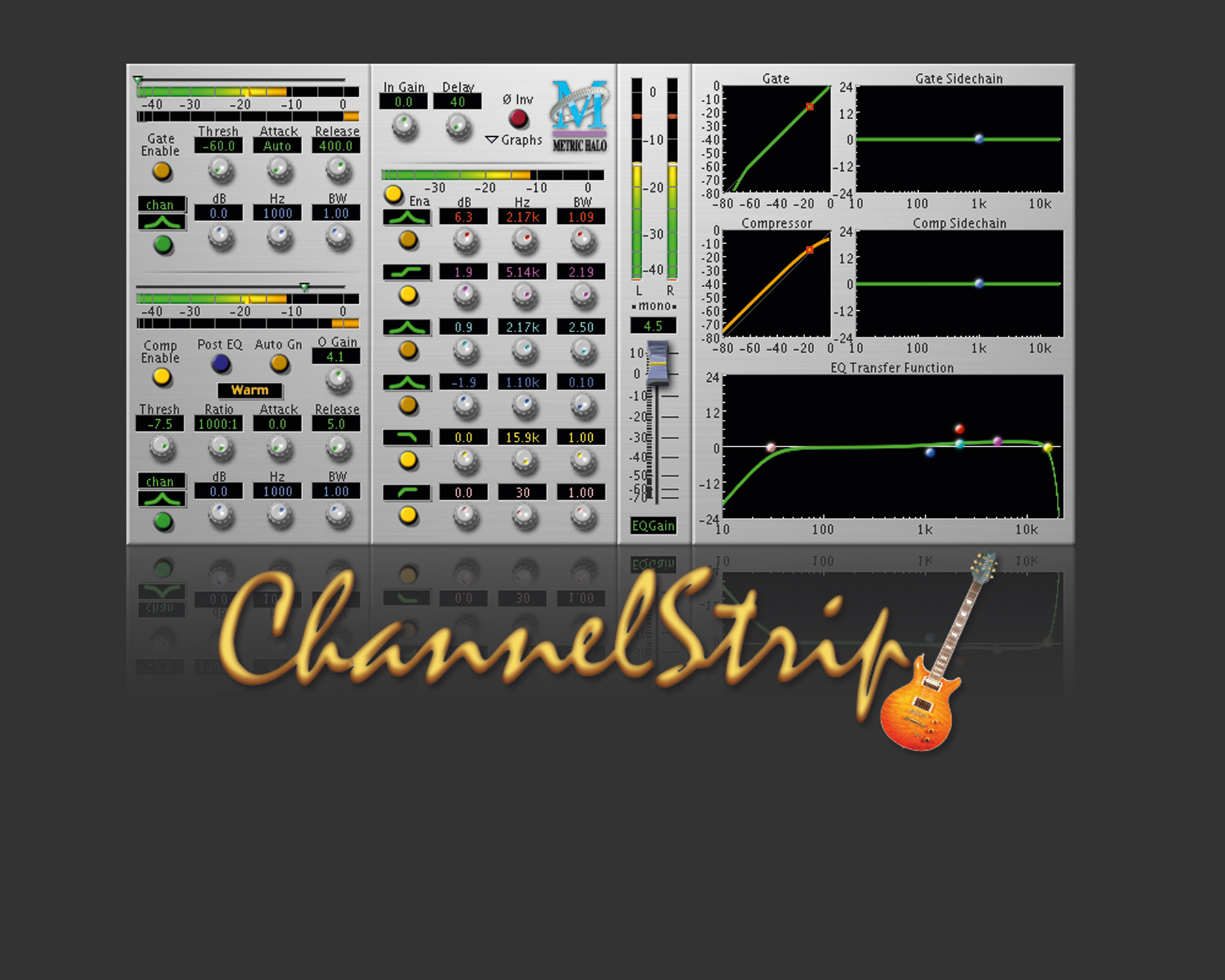 Channel Strip per Garage Band