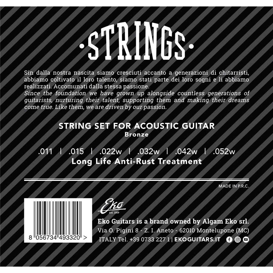 Acoustic Guitar String 12-53 set