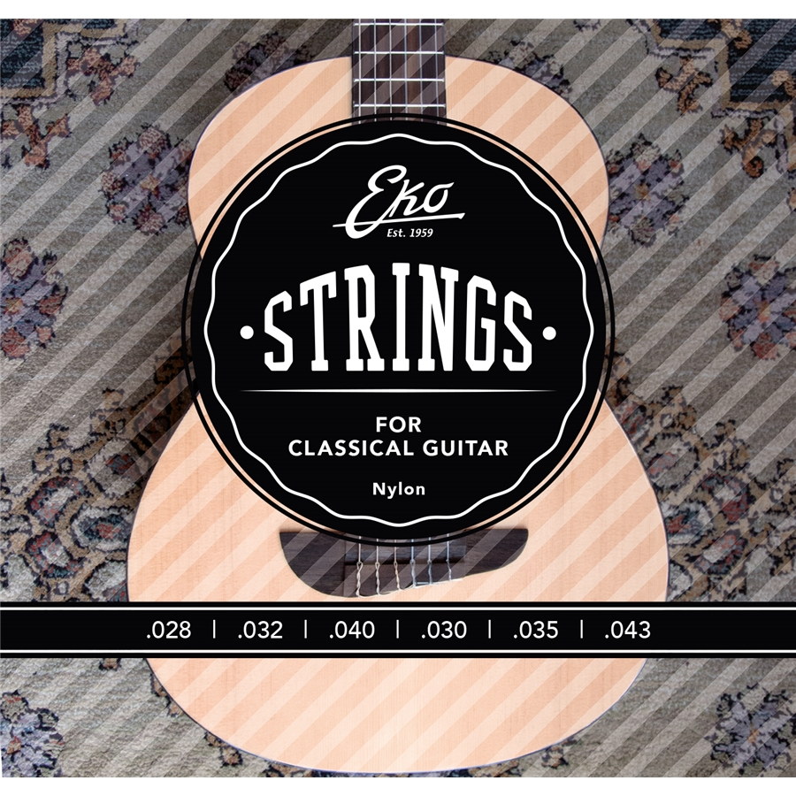 Corde per chitarra classica medium tension Eko