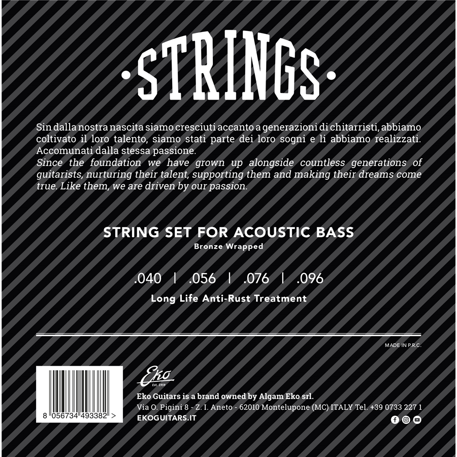 Acoustic Bass Strings 40-96 set