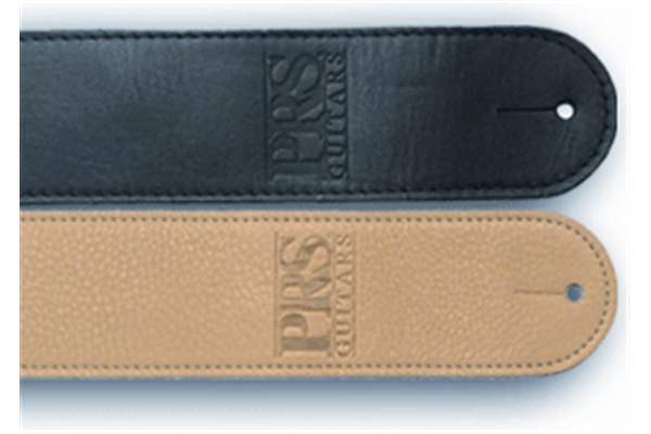 PRS - ACC-3107 Guitar Strap, Black Leather, Embossed Logo