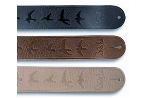 PRS - ACC-3112 Guitar Strap, Brown Leather, Birds