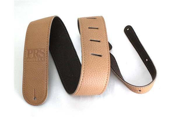 PRS - ACC-3120 Guitar Strap, Tan Leather, Embossed Logo