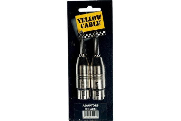 Yellow Cable - AD13 Adattatore Jack Mono Maschio/XLR Femmina 2 Pcs