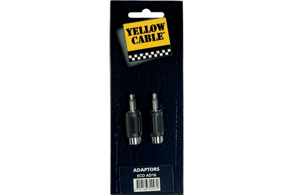 Yellow Cable - AD16 Adattatore RCA Femmina/Mini Jack Mono Maschio 2 Pcs