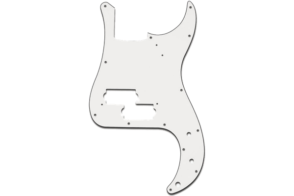 Yellow Parts - EZ1106W Battipenna Precision Bass® Style Bianco