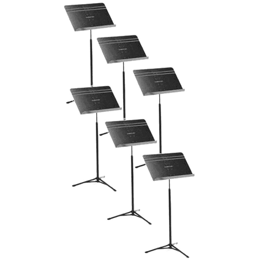 Manhasset 5206 Leggio da Orchestra Nero Pieghevole Set da 6