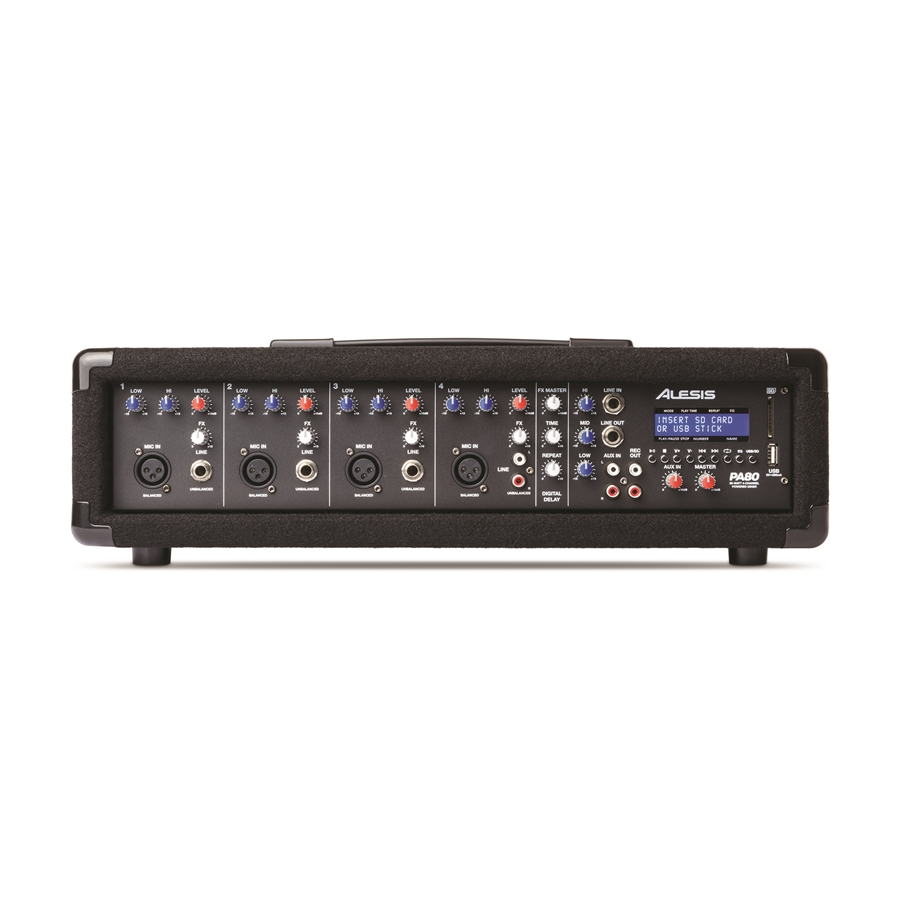 PA SYSTEM IN A BOX: SISTEMA COMPLETO MIXER/PLAYER MP3 AMPLIFICATO & DIFFUSORI