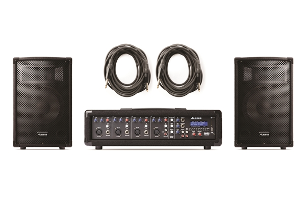 Alesis - PA SYSTEM IN A BOX: SISTEMA COMPLETO MIXER/PLAYER MP3 AMPLIFICATO & DIFFUSORI