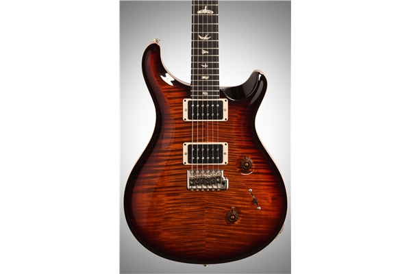 PRS - CUSTOM 24 10Top Birds Tremolo 5 vie, Black Gold Burst, Pattern Thin 85/15