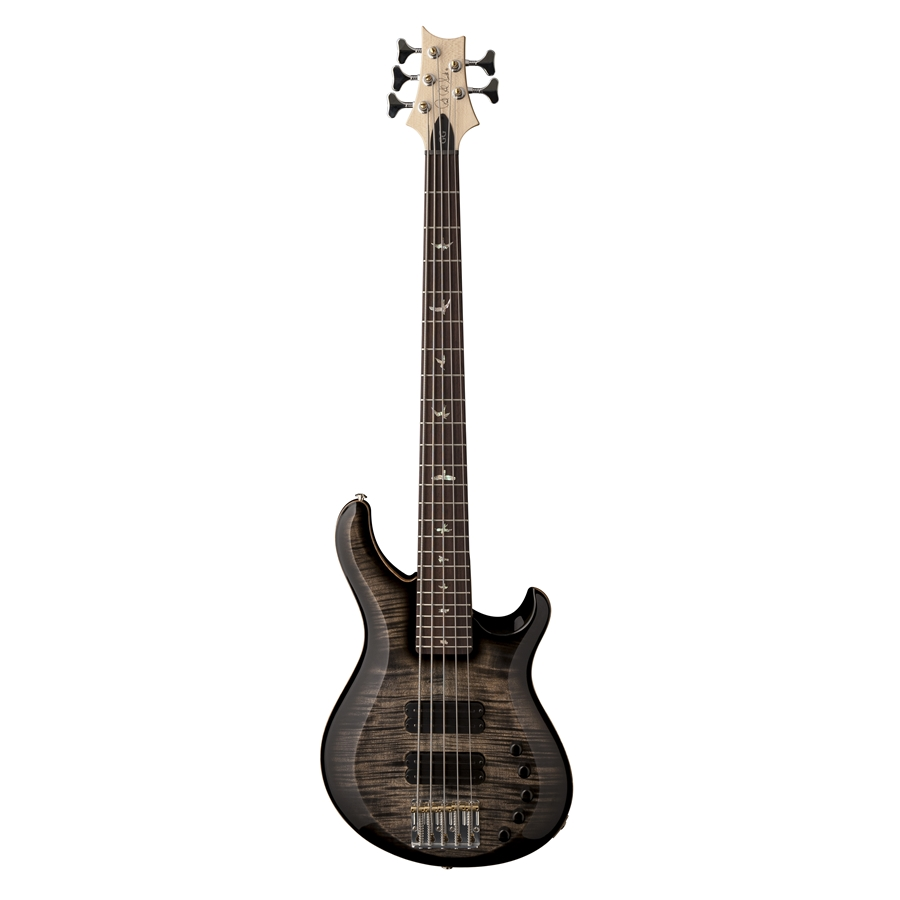 GRAINGER BASS 5 Corde Birds Charcoal Burst
