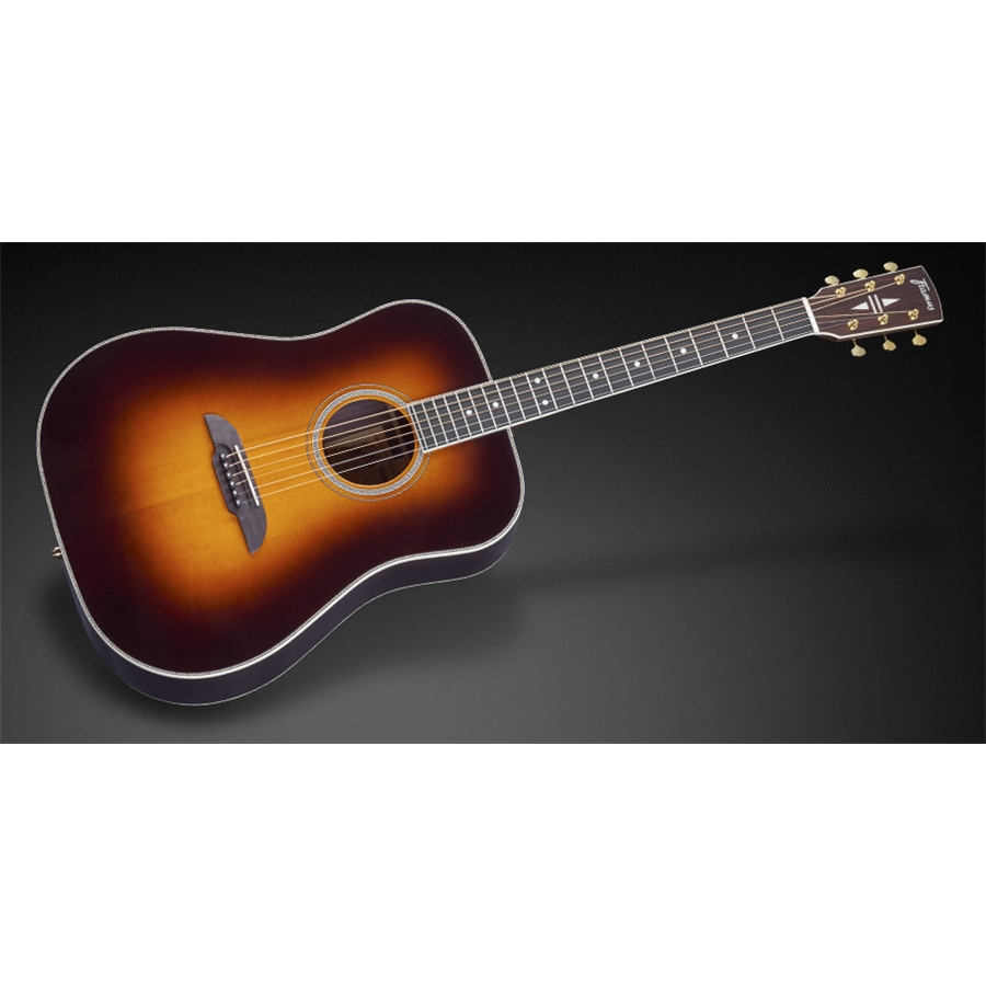 FD28 N SR E Nashville Dreadnought Eq Vintage Sunburst High Polish