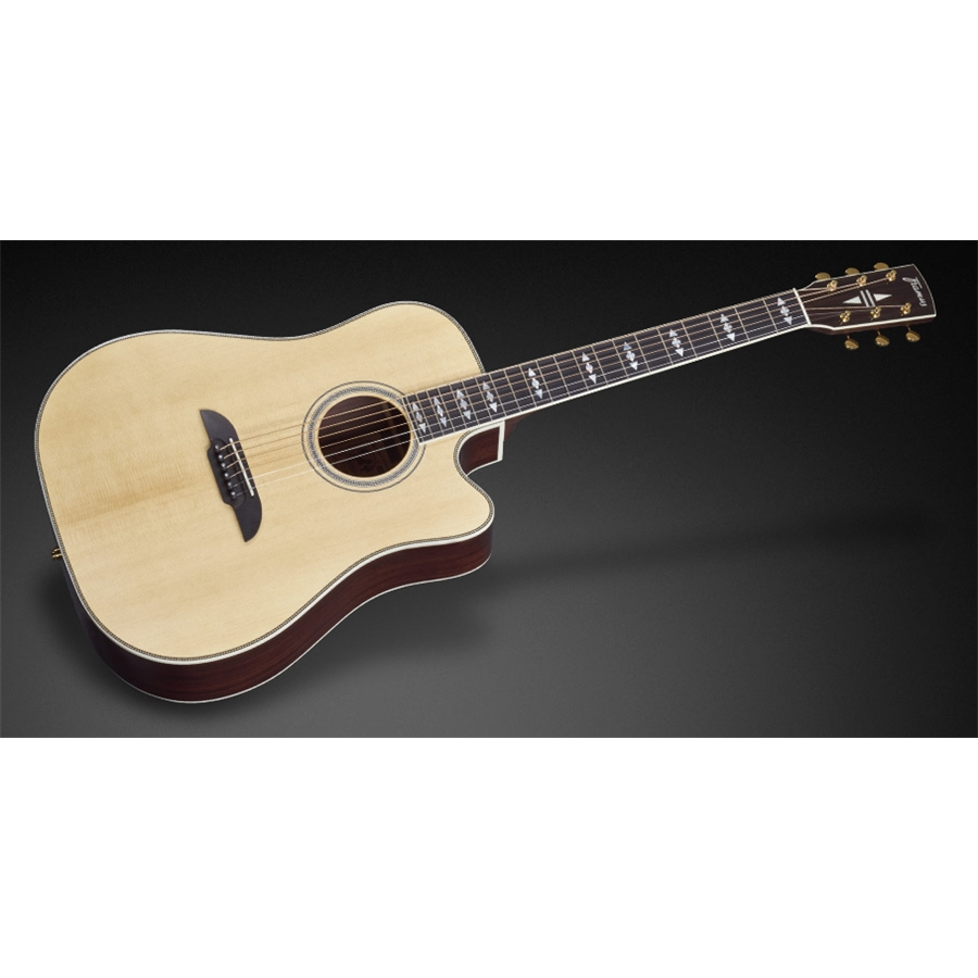 FD28 JN SR CE Dreadnought Cutaway Eq Natural Vintage High Polish