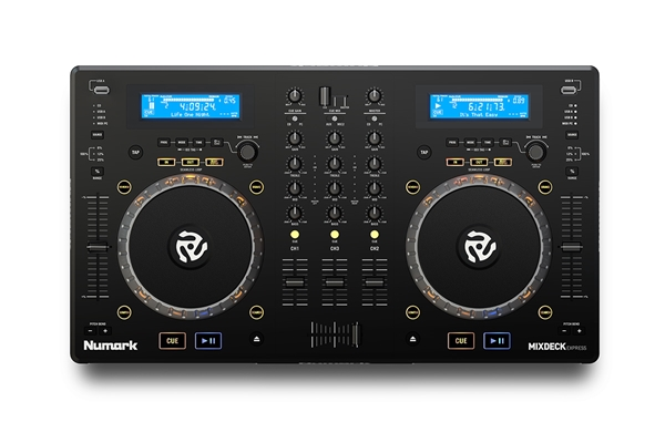 Numark - MIXDECK EXPRESS: ALL-IN-ONE, CD, MP3, CONTROLLER, MIXER 3 CANALI + SCHEDA AUDIO USB