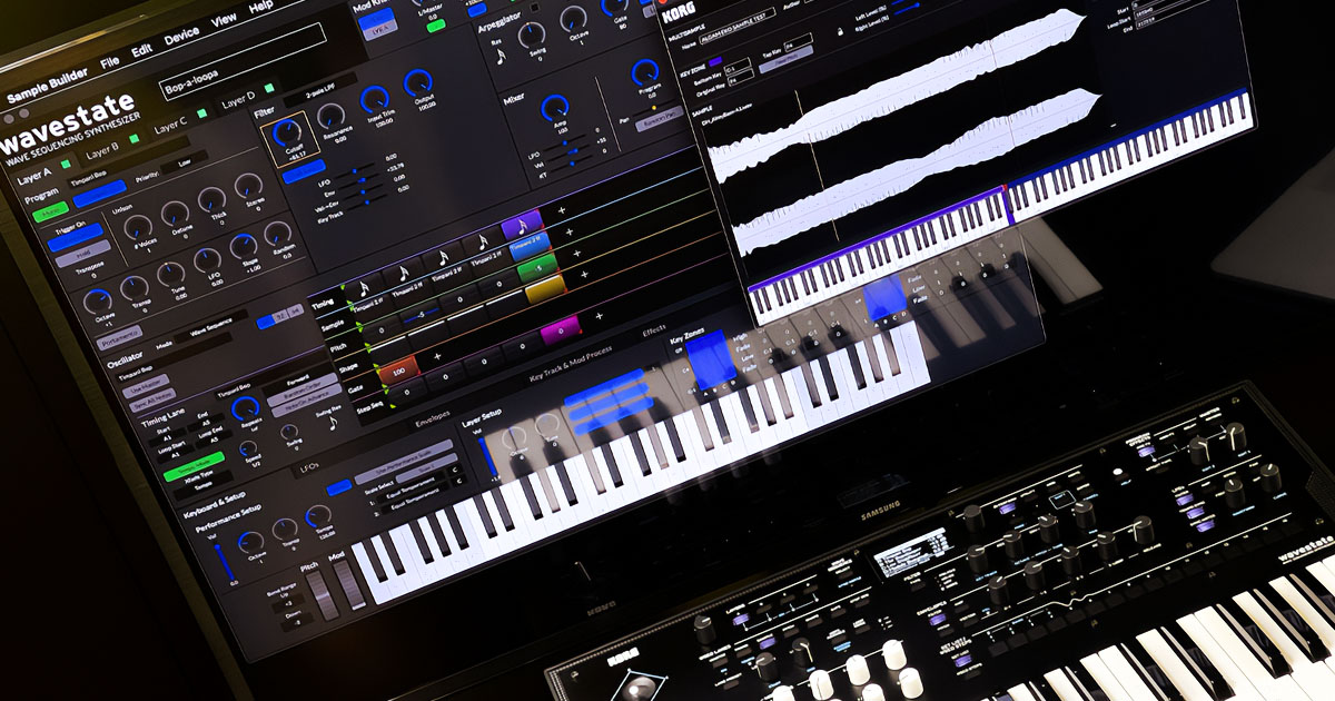 Korg Wavestate: Editor software per PC e Mac e Sample Builder per caricare sullo strumento fino a 4GB di suoni multicampionati