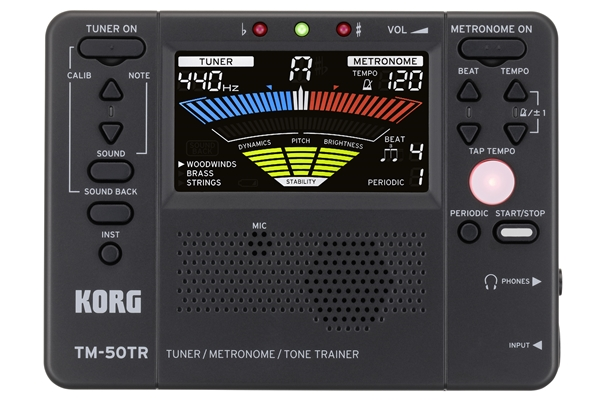 Korg - TM-50TR Accordatore/Metronomo/Tone Trainer - Black