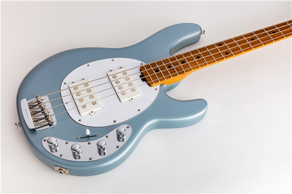 Music Man - StingRay Special HH Firemist Silver Tastiera Acero