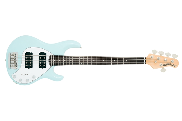 Music Man - StingRay5 HH tastiera Palissandro Powder Blue