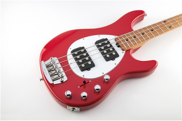 Music Man - Sterling 4 HH Scarlet Red Tastiera Acero