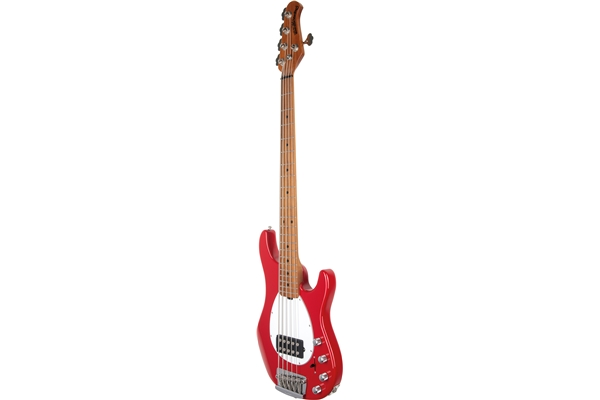Music Man - Sterling 5 H Scarlet Red Tastiera Acero