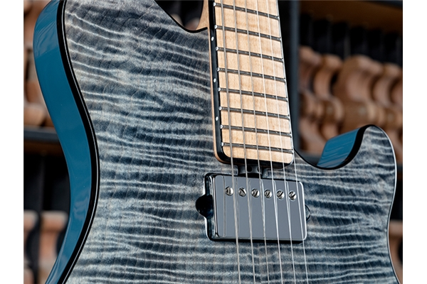 Music Man - Axis BFR Tremolo Steel Blue Tastiera Acero