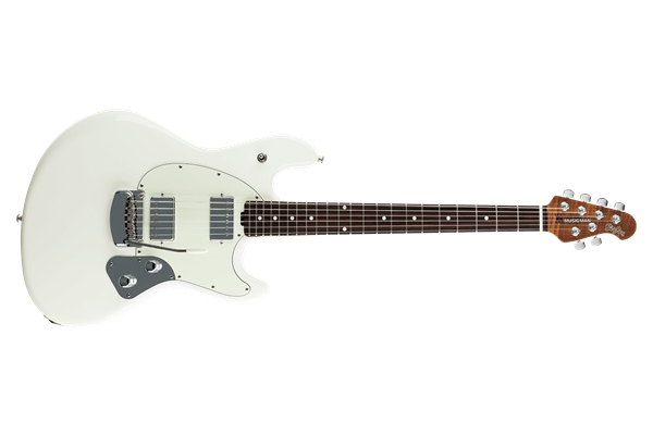 Music Man - StingRay Guitar HH Ivory White Tastiera Palissandro