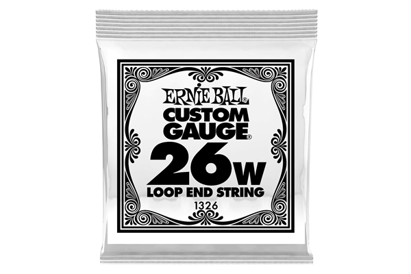 Ernie Ball - 1326 Stainless Steel Wound Loop End .026