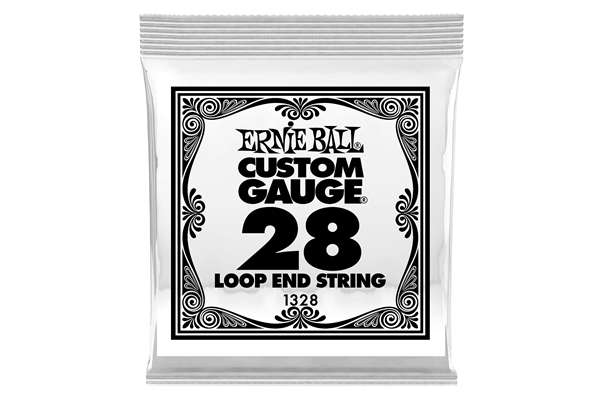 Ernie Ball - 1328 Stainless Steel Wound Loop End .028