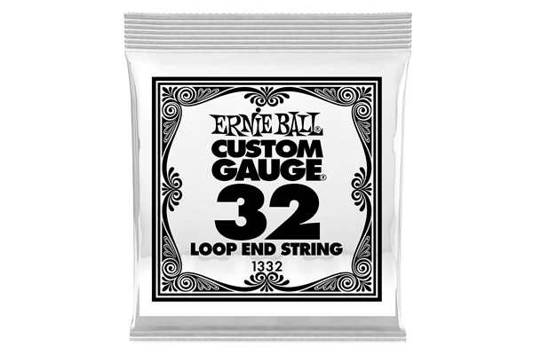 Ernie Ball - 1332 Stainless Steel Wound Loop End .032