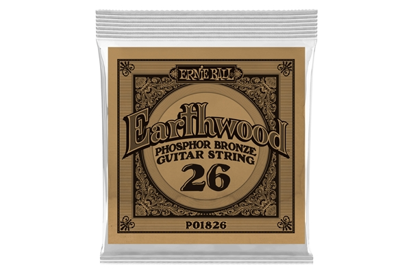 Ernie Ball - 1826 Earthwood Phospor Bronze .026