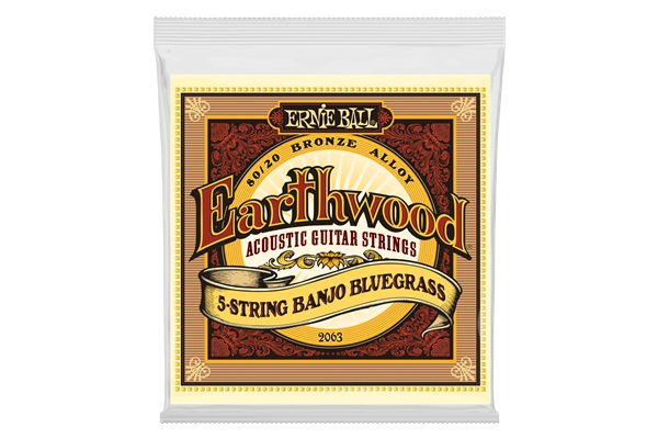 Ernie Ball - 2063 Earthwood Banjo Bluegrass Terminate ad Anello Bronzo 80/20