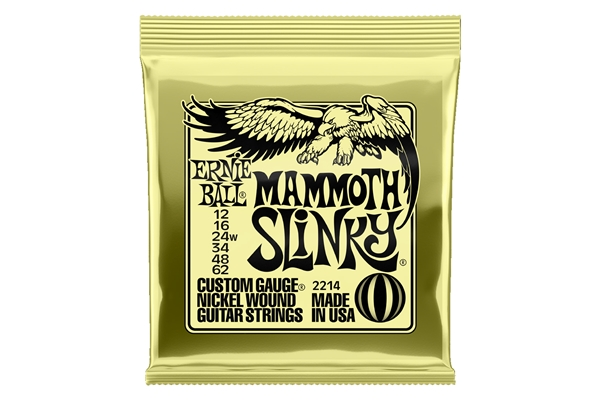 Ernie Ball 2214 Nickel Wound Mammoth Slinky 12-62