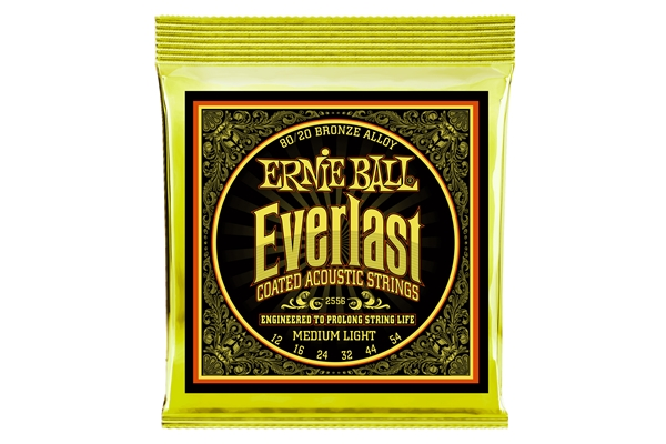 Ernie Ball - 2556 Everlast Coated 80/20 Bronze Medium Light 12-54