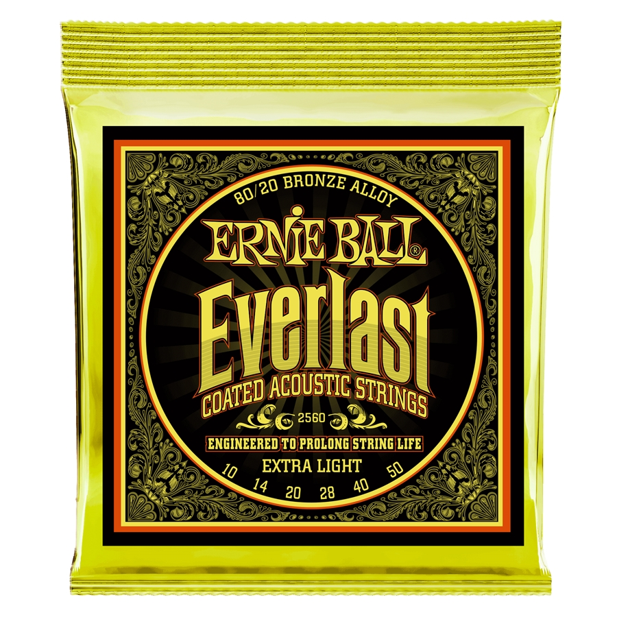 2560 Everlast Coated 80/20 Bronze Extra Light 10-50