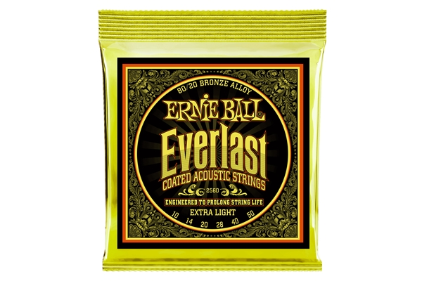 Ernie Ball - 2560 Everlast Coated 80/20 Bronze Extra Light 10-50