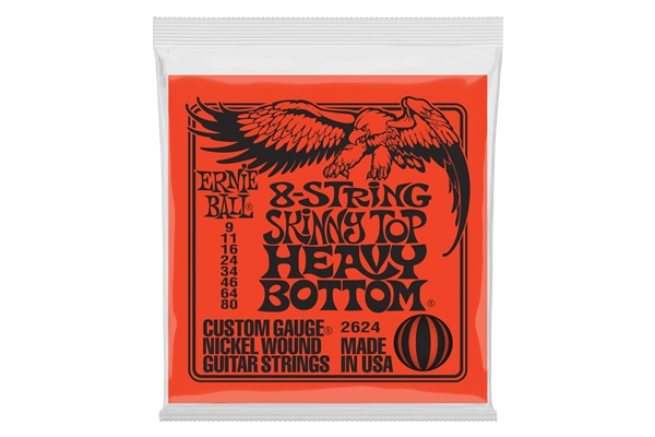 Ernie Ball - 2624 Nickel Wound Skinny Top Heavy Bottom Slinky 9-80