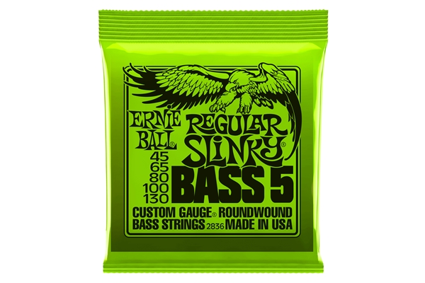 Ernie Ball 2836 Nickel Wound 5 corde Regular Slinky 45-130