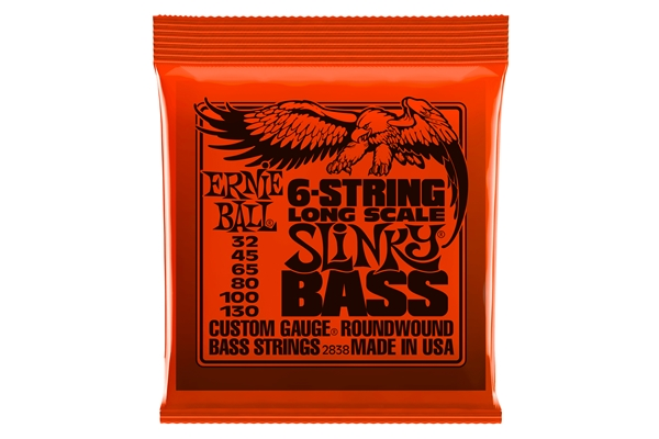 Ernie Ball - 2838 Nickel Wound 6 corde scala lunga 32-130