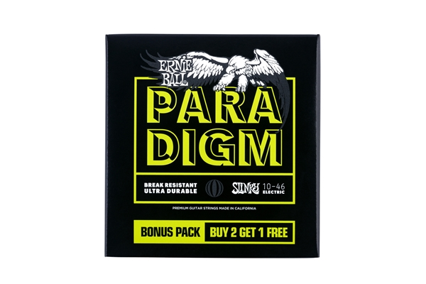 Ernie Ball 3371 Paradigm Regular Slinky 10-46 Gauge 3 Pack