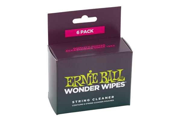 Ernie Ball - Wonder Wipes String Cleaner Confezione da 6
