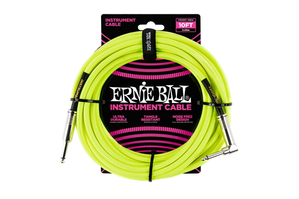 Ernie Ball - 6080 Cavo Braided Neon Yellow 2,5 m