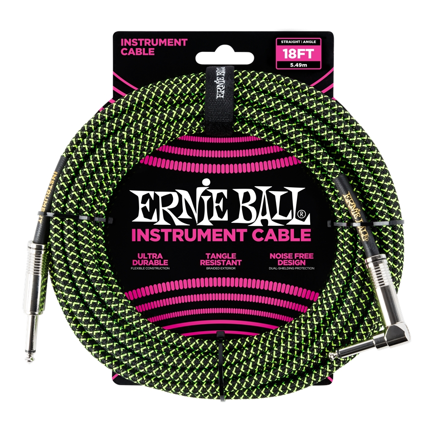 6082 Cavo Braided Black/Green 5,49 m
