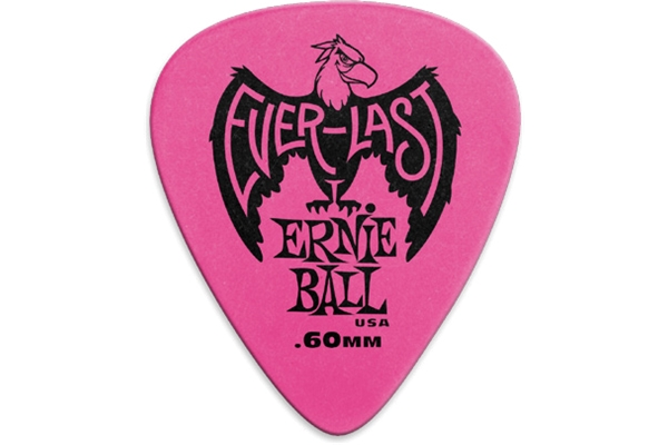 Ernie Ball - 9179 Plettri Everlast Pink 0.60mm Busta da 12