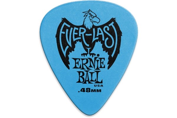 Ernie Ball - 9181 Plettri Everlast Blue 0.48mm Busta da 12