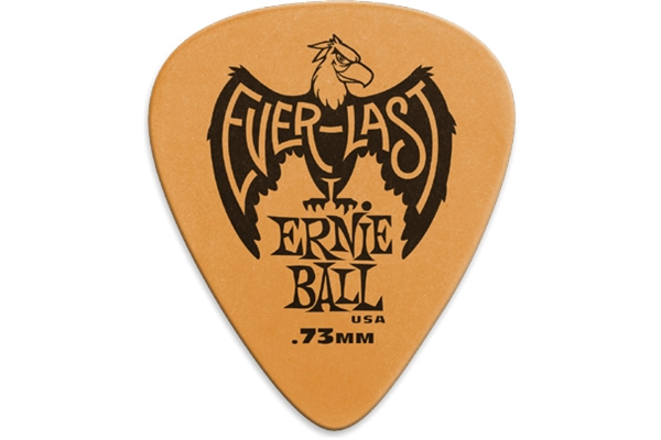 Ernie Ball - 9190 Plettri Everlast Orange 0.73mm Busta da 12