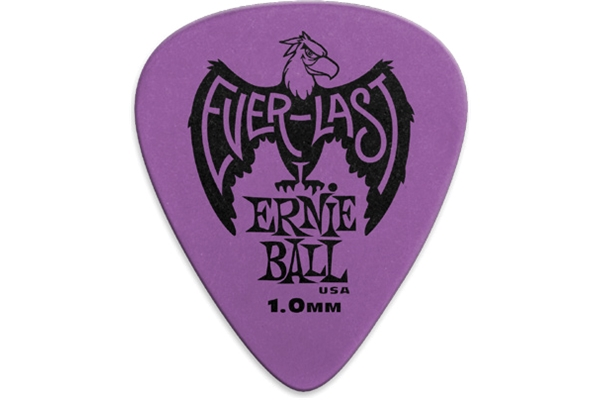 Ernie Ball - 9193 Plettri Everlast Purple 1.00mm Busta da 12