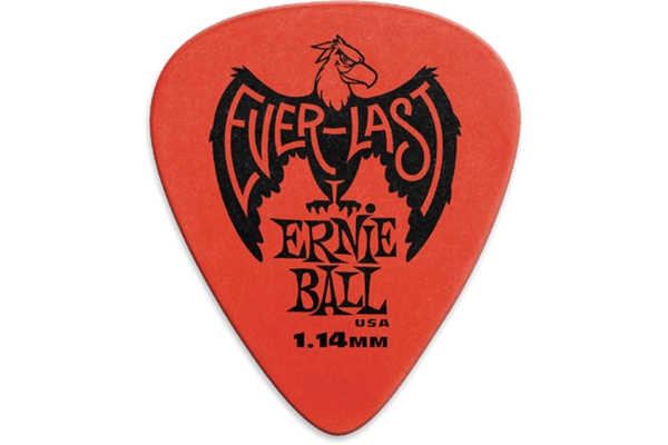 Ernie Ball - 9194 Plettri Everlast Red 1.14mm Busta da 12
